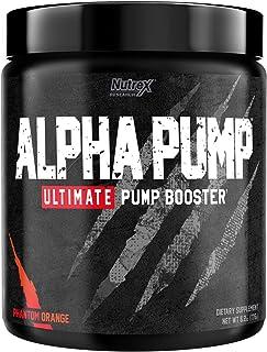 Nutrex Research Alpha Pump Stim-Free Pre-Workout Pump Booster   Ultimate Muscle Pumps, Non Stimulant Nitric Oxide Preworko...