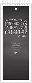 Chalkboard Style Perpetual Birthday & Anniversary Calendar