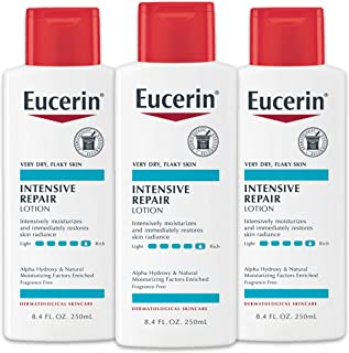 Eucerin Lotion, Intensive Repair, 8.4 Ounce (Pack of 3)