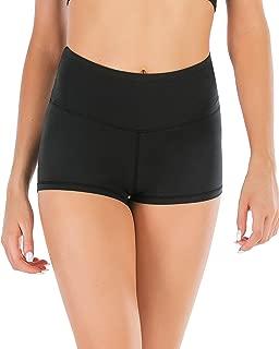Women High Waist Yoga Shorts Tummy Control Active Workout Fitness Running Booty Shorts