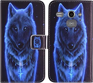 TienJueShi Wolf Book-Style Flip Leather Protector Case Cover Skin Etui Wallet for Doro Liberto 820 Mini 4 inch