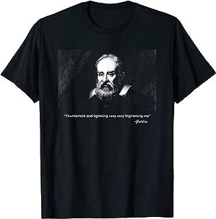 Thunderbolt lightning Galileo Meme Science Astronomy T Shirt
