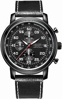 HANNAH MARTIN メンズムーブメントスポーツとレジャーの腕時計防水クォーツ時計-モデル HM-2004 (ブラウン-HM-2004)