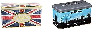 New English Teas Classics Twin Pack: English Breakfast Union Jack Tin + English Afternoon London Skyline Tin