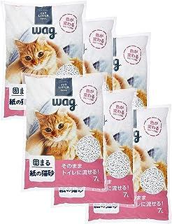 [Amazonブランド] Wag 紙の猫砂 7L×6袋 42L (ケース販売)