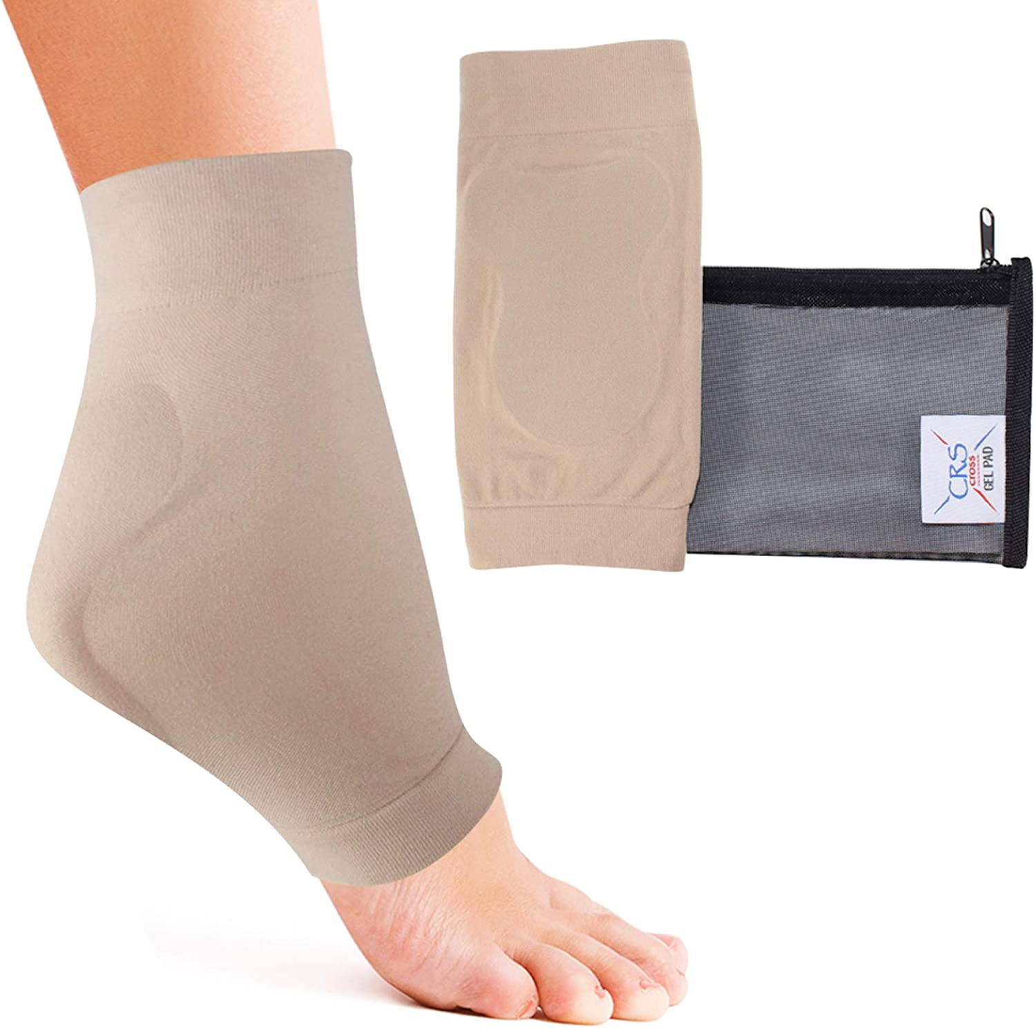 CRS Cross Achilles Heel Sleeve Award-winning store Compression - Gel Free Shipping Cheap Bargain Gift Premium Padded