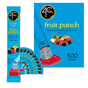 4C Powder Drink Mix | Bulk Buy | Singles Stix, On the Go | Refreshing Water Flavorings | Value Pack (Fruit Punch, 500ct)