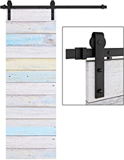 EaseLife 5 FT Heavy Duty Sliding Barn Door Hardware Track Kit,Ultra Hard Sturdy,Slide Smoothly Quietly,Easy Install,Fit 26