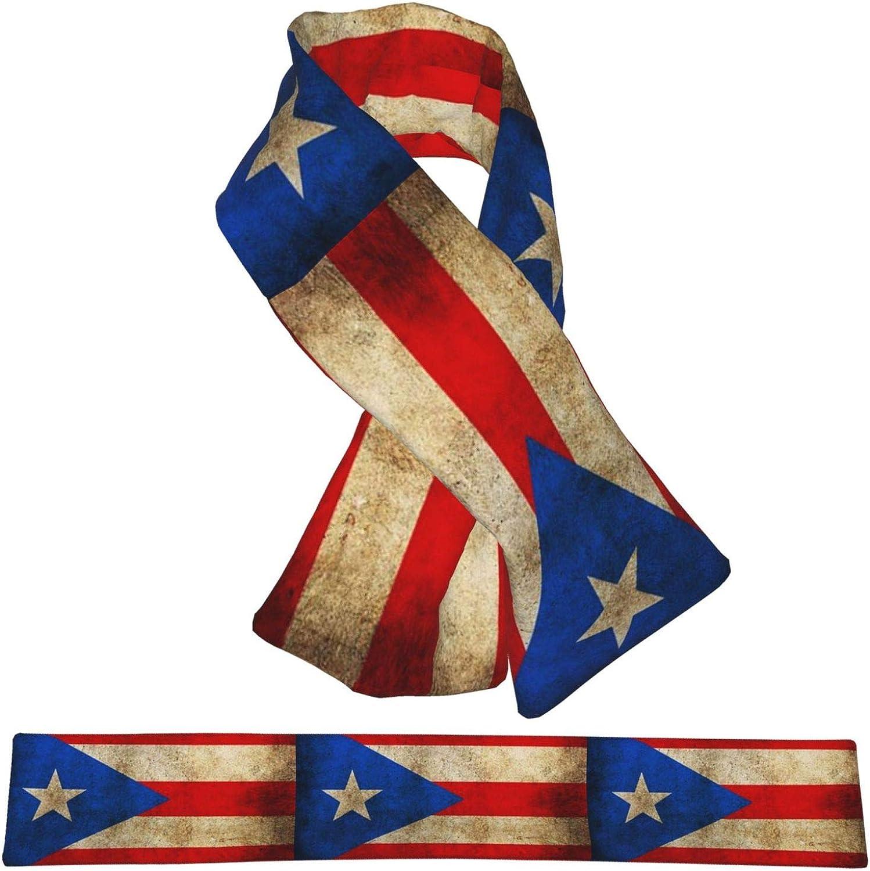 Winter Scarfs Vintage Puerto Rico Flag Scarves Wraps Neck Warmer Flannel Winter Cross Tie Scarves