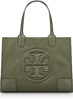 Tory Burch Women's Mini Ella Nylon Top-Handle Bag Tote (Green)