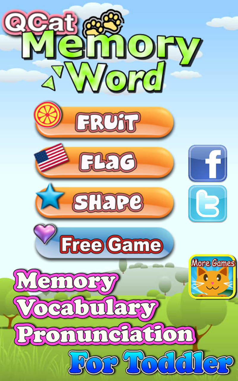 QCat -Toddler's Memory Training Card