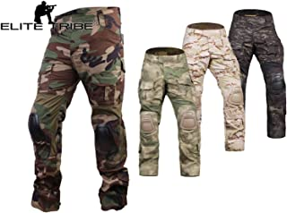 Elite Tribe Airsoft Hunting Tactical Pants Combat Gen3 Pants with Knee Pad