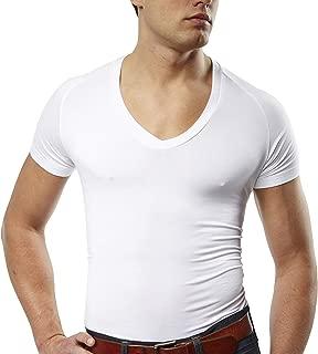 Mr. Davis Comfort Fit Premium Bamboo Viscose Tailored Cut V Neck Men's Undershirt 3 Pack