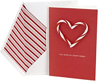 Hallmark Signature Holiday Card for Significant Other (Candy Cane Heart)