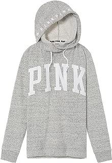 Victoria's Secret Pink Crossover Pullover Hoodie Sweatshirt Grey MARL - XS
