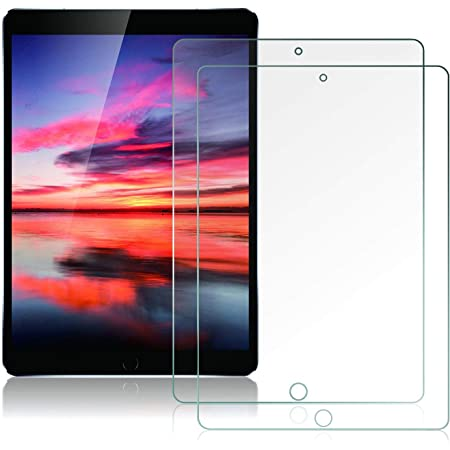 [ 2 Pack ] Sevrok iPad Air 3 Screen Protector, iPad Pro 10.5 Screen Protector [ Tempered Glass ] [ Bubble-Free ] [ Easy Install ] Apple Pencil Compatible for iPad Air 3rd Gen/iPad Pro 10.5 inch