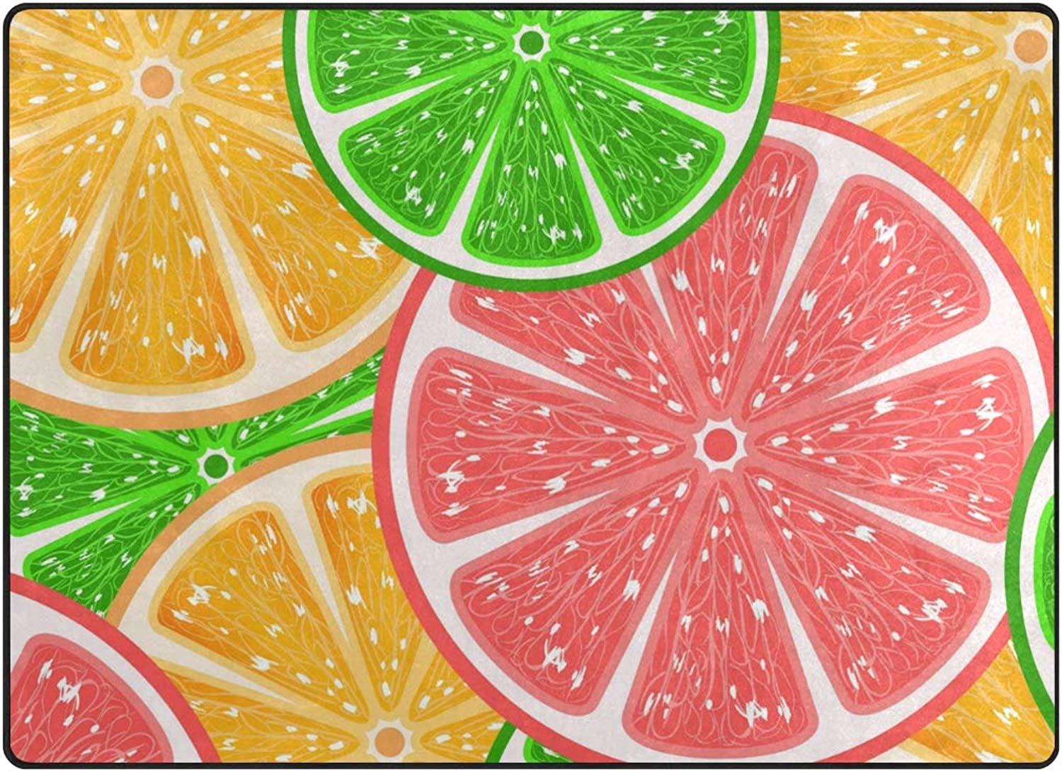 FAJRO Citrus Fruit Pattern Rugs for entryway Doormat Area Rug Multipattern Door Mat shoes Scraper Home Dec Anti-Slip Indoor Outdoor