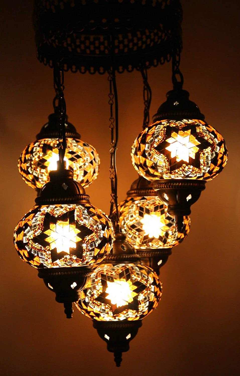 Multicolour Turkish Moroccan Factory outlet Style Award Mosaic Hanging Light Han Lamp