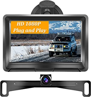 $55 » UNITOPSCI Backup Camera and Monitor Kit for Car/Trailers/Trucks/Campers/Vans with 5 Inch HD Mirror Monitor Rear View Camer...