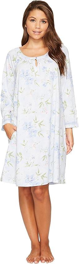 Carole Hochman Cotton Jersey 3/4 Sleeve Sleepshirt