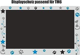 Displaybeschermfolie voor TM6 kat grijs poten turquoise