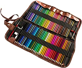 72 Premium Watercolor Pencils Set For Colored Art Sketch Artists With Roll-up Canvas Pencil Case