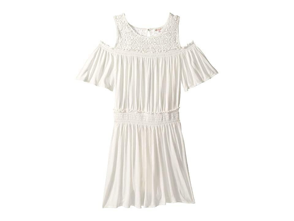 Ella Moss Girl Cold Shoulder Dress (Big Kids) (Full Sail) Girl