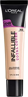 L'Oreal Paris Infallible Total Cover Foundation, Creamy Natural, 1 fl. oz.