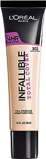 L'Oréal Paris Infallible Total Cover Foundation, Creamy Natural, 1 fl. oz.