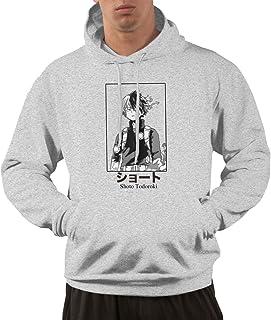 Threads Basket Shoto Todoroki Portrait My Hero Academia Inspired Hoodie Men's Casual Printed Sweatshirt