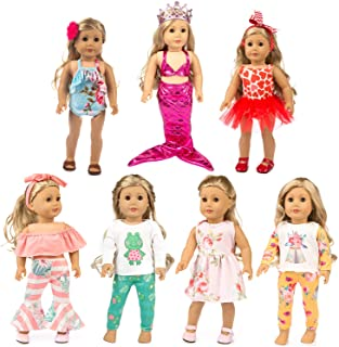 XFEYUE 18 inch Doll Clothes and Accessories for American 18 inch Girl Doll, Mermaid Costumes and Various Styles of Doll Cl...