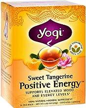 Yogi Tea Herbal Tea, Sweet Tangerine Positive Energy 1.02 oz(Pack of 2)