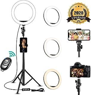 Video Konferenz Beleuchtungsset, Ringlicht mit Stativ, Dimmbare Leuchte mit Klemmhalterung für Fernarbeit, Fernunterricht, Zoom Anrufbeleuchtung, Live Streaming.