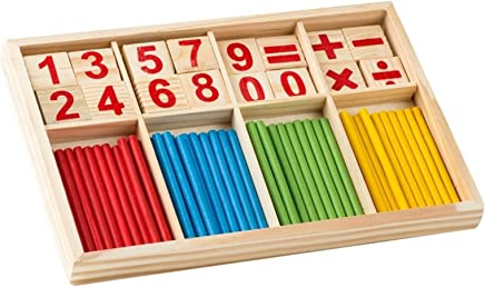 Your store Mathematical Intelligence Stick Preschool Educational Toys-Wooden Number Cards Counting Rods Box