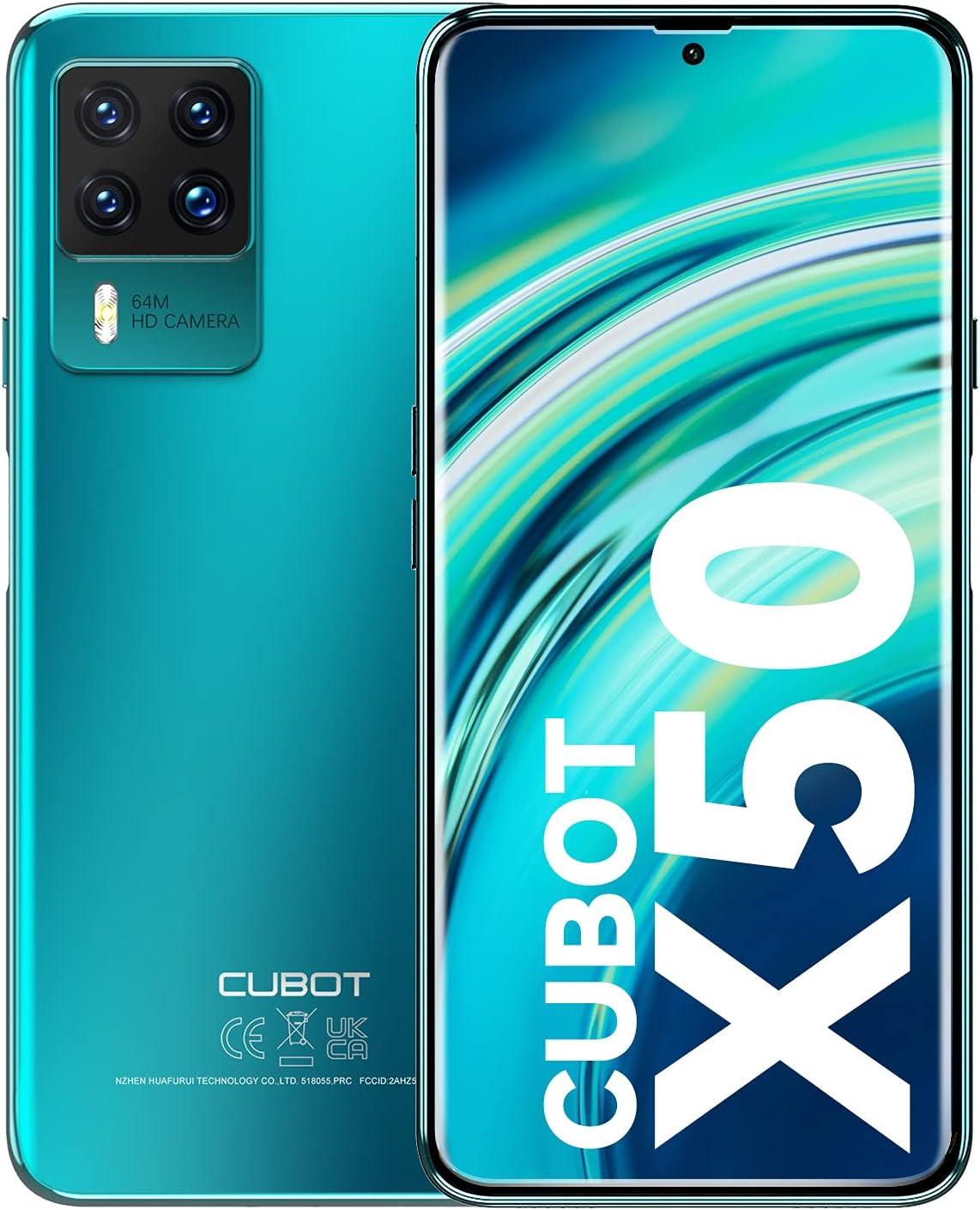 CUBOT X50 Móviles Libres, Android 11 Teléfono Móvil,8GB + 128GB Smartphone Libre(TF 256GB),Pantalla FHD+ de 6.67