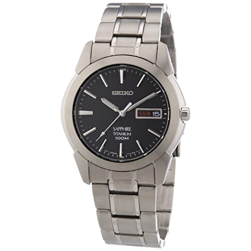 Seiko Mens Quartz Titanium Casual Watch, Color:Silver-Toned (Model: SGG731