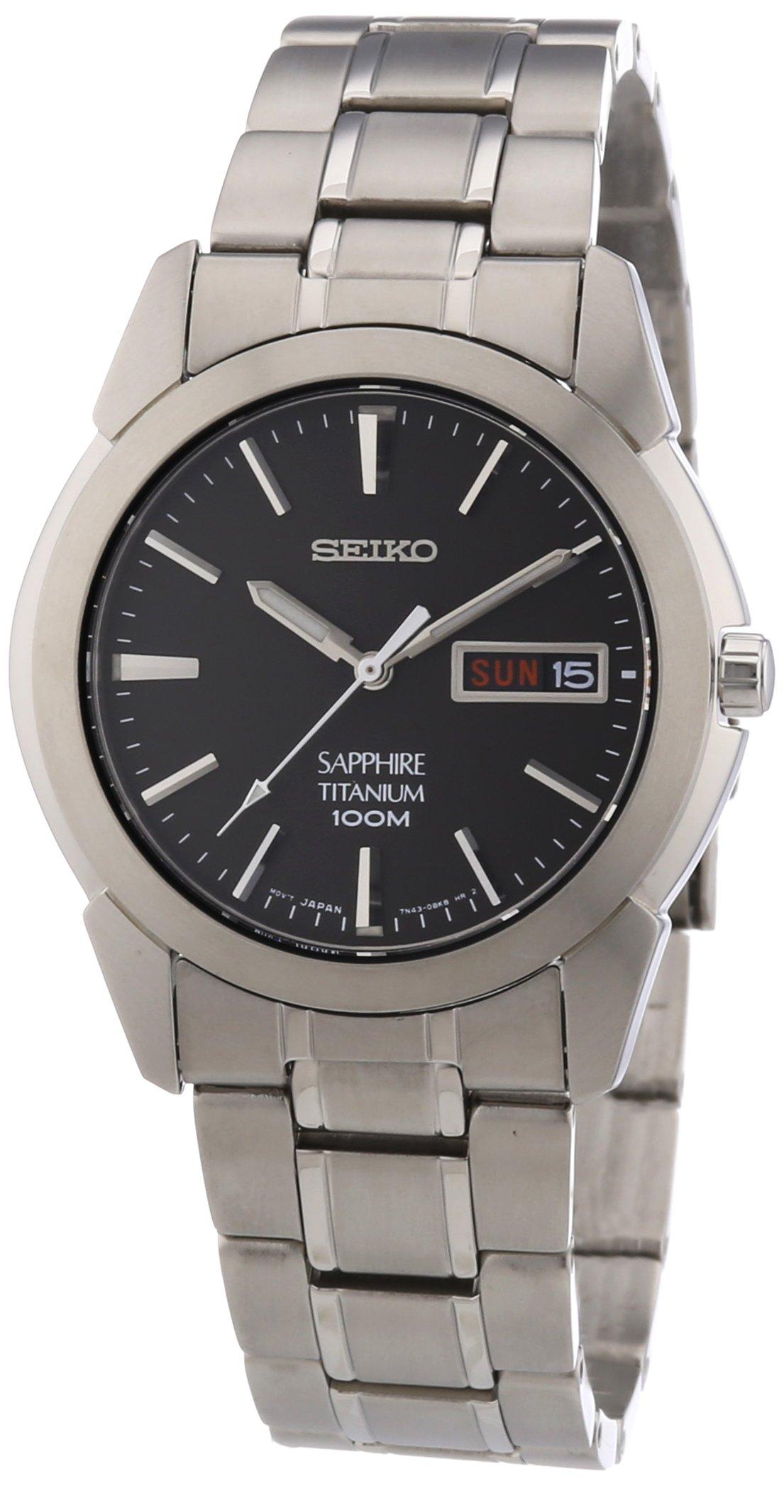 Seiko Quartz Titanium Casual Watch