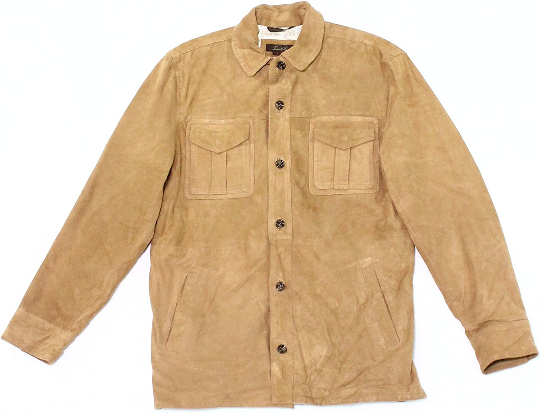 Tasso Elba Mens Suede Bomber Jacket