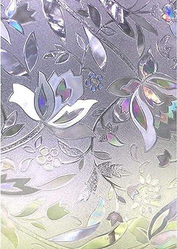 Zindoo Stickers pour Fenetre Rayure Film Vitre Anti UV Film de Protection Fenetre 60 * 200 CM pour Decoration Salle d...
