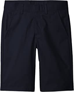 Husky Flat Front Twill Shorts (Big Kids)
