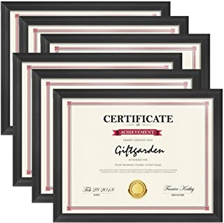 Seven Horses (A4 Size) 8.5x11.5 inch Picture Frames Certificate Document Frame Set, Black, 6 Pack