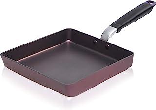 Padella antiaderente bilaterale per colazione quadrata multifunzionale portatile in alluminio per sandwich Pancake Toast ect.