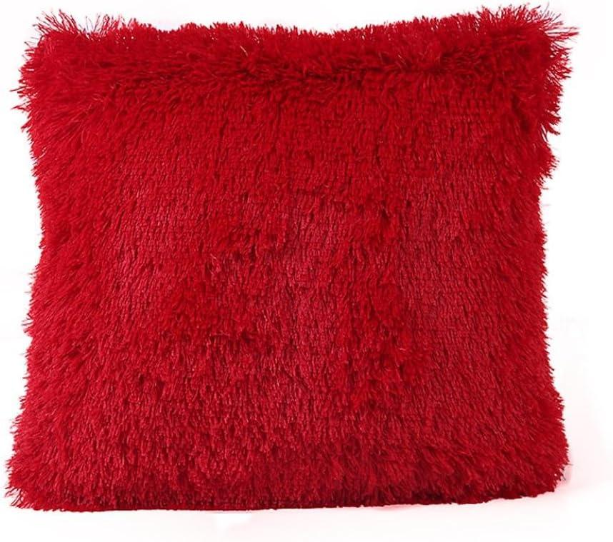 Fluffy Faux Fur Soft Pillowcase Cushion Cover Throw Home Sofa Waist Decoration