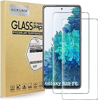 AOKUMA Samsung Galaxy S20 FE 5G/Galaxy S20 FE härdat glas skärmskydd, [2-pack] Skyddsfilm av högsta kvalitet, fodralvänli...