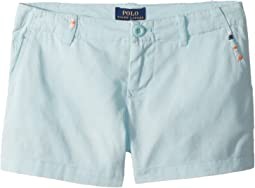 Polo Ralph Lauren Kids Embroidered Chino Shorts (Little Kids/Big Kids)