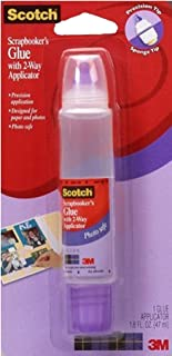 Scotch 019 1.6-Ounce Scrapbookers Glue with Two-Way Applicator