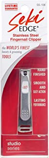 Seki Edge Nail Clippers (SS-106) - Stainless Steel Fingernail Clippers for Men & Women - Sharp Cutting Edges for Thick Nails - Professional & Home Use - Made in Japan