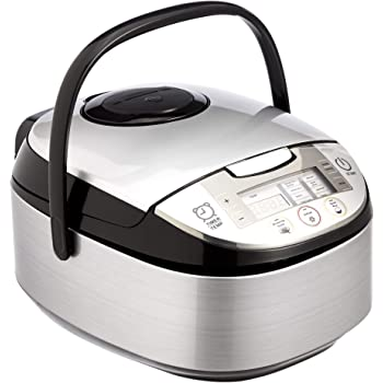 AmazonBasics Multi-Functional Rice Cooker - 5.5-Cup Uncooked (11-Cup Cooked), Silver