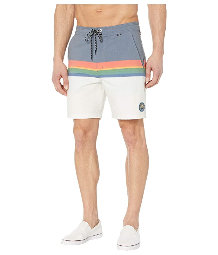 Hurley  18 Beachside Pendleton Crater Lake Boardshorts (Obsidian) Mens Swimwear