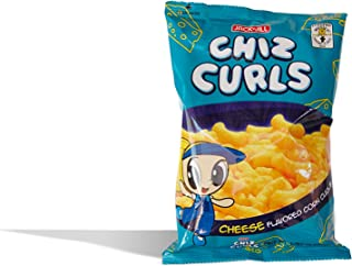Chiz Curls Cheese Flavored Corn Curls Fortified w/ Iron Product of Philippines oz/55g